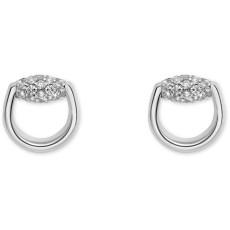 ada71dfde Horsebit stud earrings in white gold and diamonds · Château D'Ivoire ...